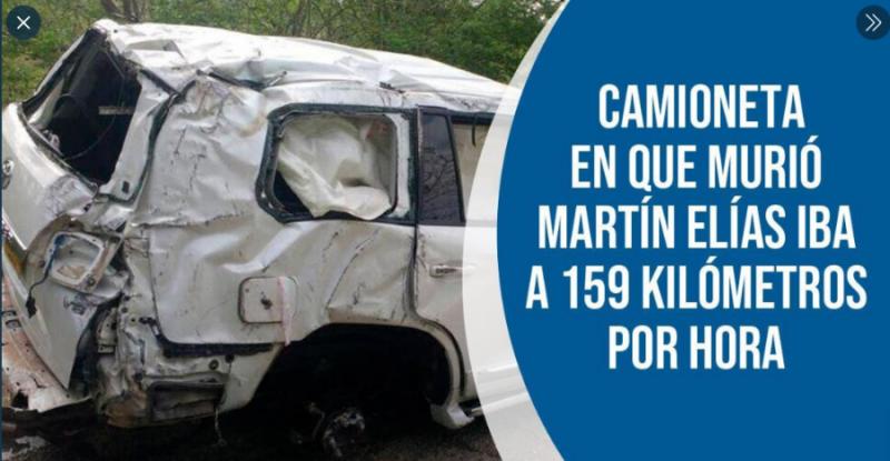 Camioneta En Que Murió Martín Elías Iba A 159 Kilómetros Por Hora
