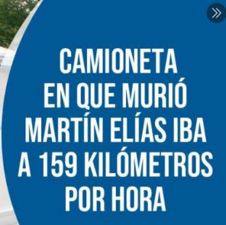 Camioneta En Que Murió Martín Elías Iba A 159 Kilómetros...