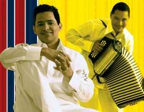 Jorge y Jimmy en el concierto vallenato de Caracas