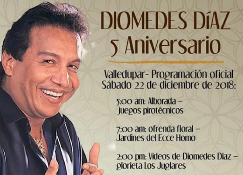 Valledupar Conmemora Los Cinco Años De La Muerte De Diomedes Díaz