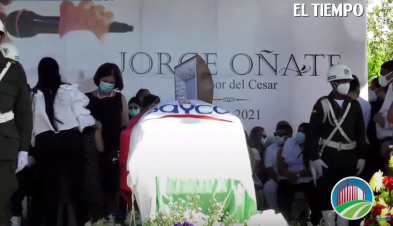 El último Adiós A Jorge Oñate En La Paz, Cesar