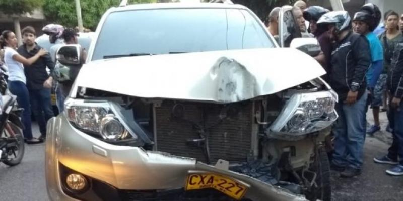 Ana Del Castillo Sufre Fuerte Accidente Automovilístico En Valledupar