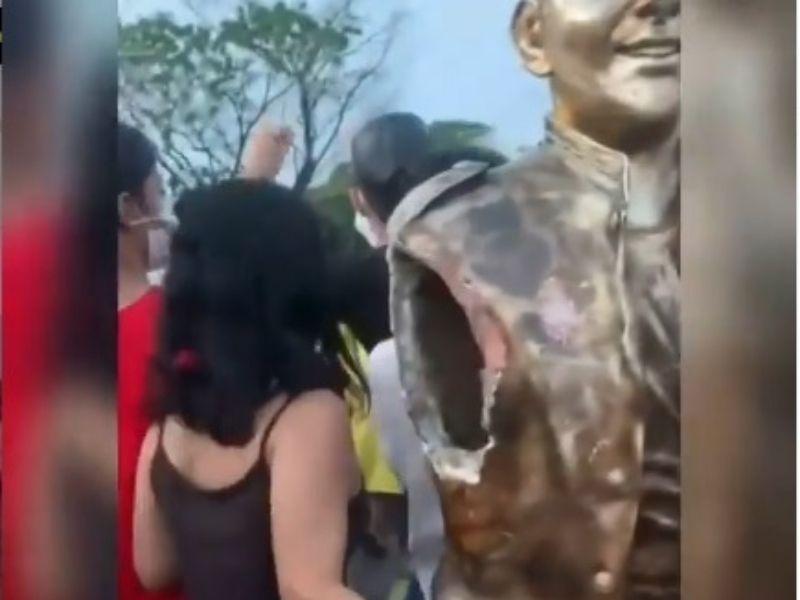 Vándalos Destruyen Estatua De Peter Manjarrés