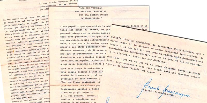 Remembranza - La carta de Consuelo Araujonoguera a un periodista