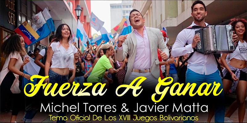 Michel Torres y Javier Matta Lanzamiento Mundial Del Videoclip Fuerza A Ganar