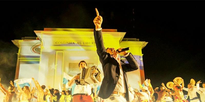 Michel Torres Y Javier Matta Artistas Oficiales Del  Lanzamiento Delos Xviii Juegos Bolivarianos En Cali