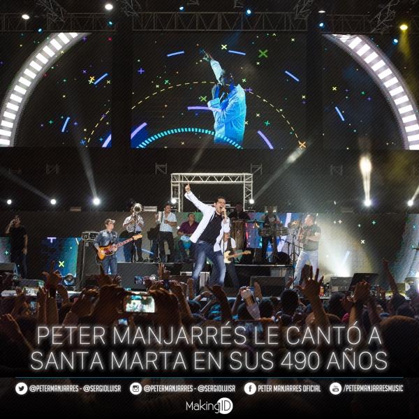 Peter Manjarr�s le Cant� a Santa Marta en sus 490 A�os