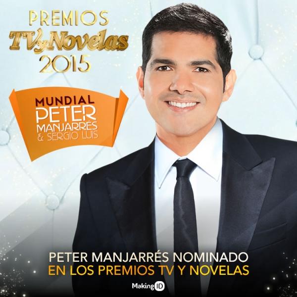 Peter Manjarr�s nominado en los premios TV y Novelas