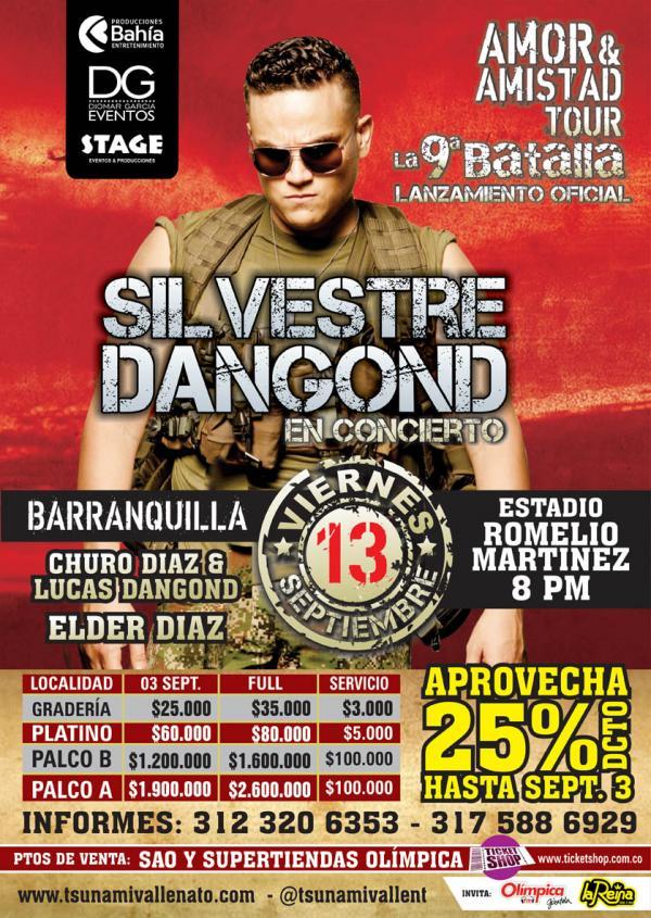 13 Septiembre Lanzamiento de La IX Batalla de Silvestre Dangond en BARRANQUILLA