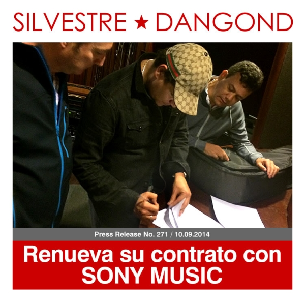 Silvestre renueva su contrato con SONY MUSIC