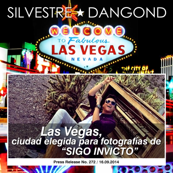 Silvestre escogio Las Vegas para sus fotos