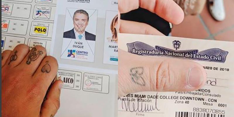 Silvestre Mostró Su Voto Y Al Candidato Por El Cual Voto